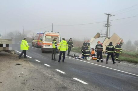 Un nou accident mortal pe E85, în Neamț! Coliziunile între 2 autoutilitare!