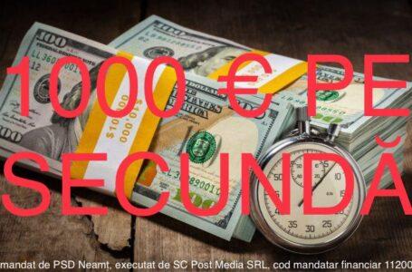 1.000 de euro pe secundă!