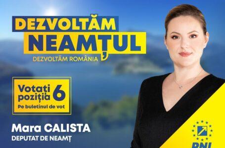 Mara Calista (PNL Neamț): Guvernul PNL repară abuzurile Consiliului Județean Neamț!