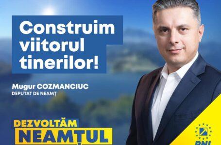Mugur Cozmanciuc (președinte PNL Neamț): Granturi de 25.000 euro pentru tinerii care vor să își deschidă o afacere!