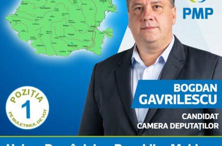 Bogdan Gavrilescu: PMP, singurul partid care și-a asumat un proiect de țară – Unirea României cu Republica Moldova!