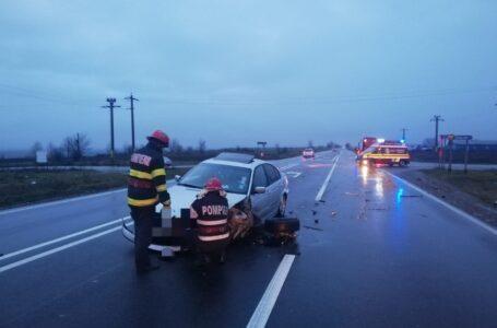 Accident pe E85 la Săbăoani, în a doua zi de Crăciun