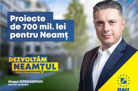 """Deputatul Mugur Cozmanciuc, președintele PNL Neamț: """"Guvernul continuă proiectele de investiții demarate prin PNDL"""""""