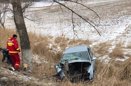 Accident rutier cu 2 victime la Gârcina, duminică dimineață