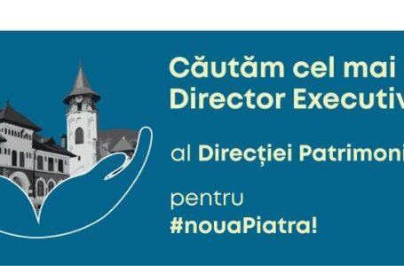 Primăria Piatra-Neamț angajează director executiv la Direcția de Patrimoniu