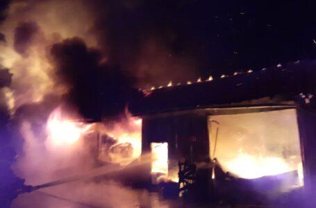 AGAPIA – Un service auto în care se aflau 2 autoturisme a fost distrus de un incendiu