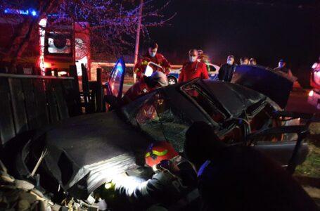 Accident la Piatra Şoimului. O şoferiţă a spulberat gardul unei case. În maşină erau 2 copii.