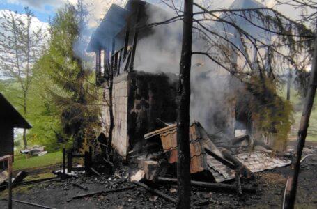 Incendiu la o casă de vacanță din Izvorul Alb – Bicaz