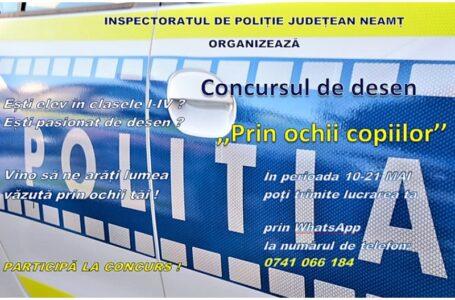 Poliţia Neamţ organizează un concurs pentru copii, cu ocazia Zilei de 1 Iunie