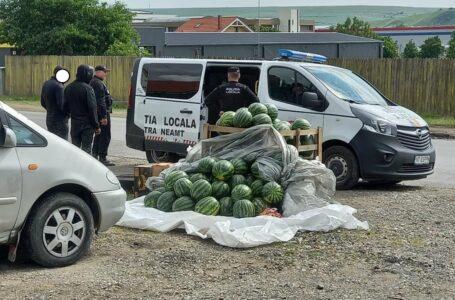 Pepenarii care vând în locurile neautorizate din Piatra-Neamţ au fost amendaţi de Poliţia Locală
