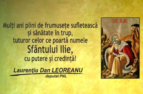 Mesajul deputatului PNL Neamţ Laurenţiu Leoreanu, cu prilejul sărbătorii Sfântului Ilie