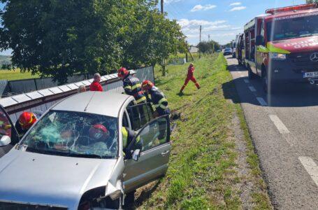 Accidentul de la Oşlobeni a fost provocat de o şoferiţă de 74 ani (foto)