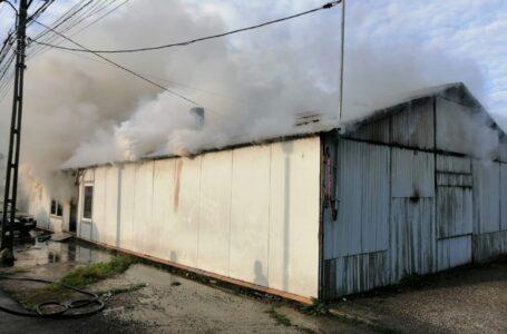 Incendiu cu pagube uriaşe la Roman (foto)