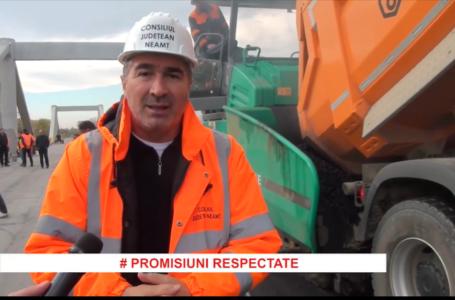 Ionel Arsene (preşedinte CJ Neamţ): Podul de la Luţca va fi redat circulaţiei săptămâna viitoare.